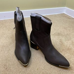 New Rachel Zoe Ankle Boots 6.5 US Brown Leather